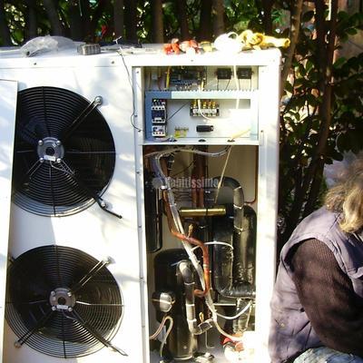 Cambio caldera gas propano por aerotemo en 'La Garrotxa'
