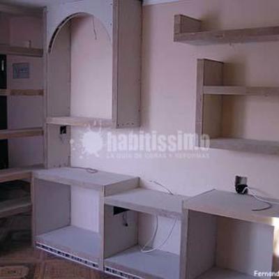construcción de mueble de pladur