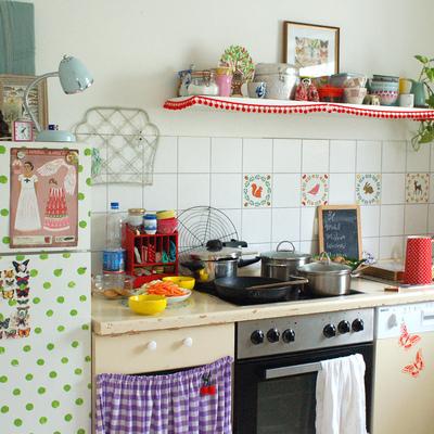 Ideas y fotos de muebles cocina con cortinas para for Ideas para cortinas de cocina