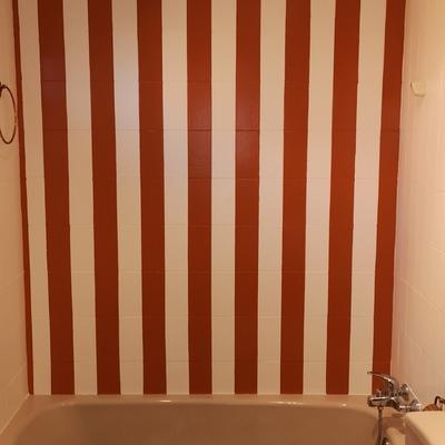 Cambio de cuarto de baño con decoración