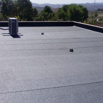 Impermeabilización de una cubierta con pizarra