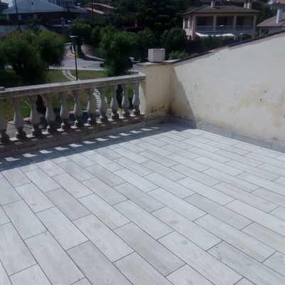 Cambio de pavimento en terraza exterior