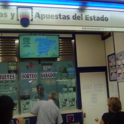 Pintado de administración de loterías.