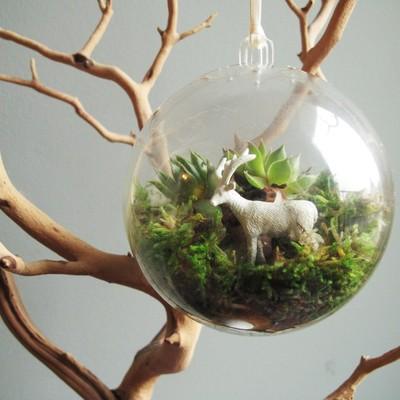 Crea un árbol de Navidad único con ramas secas