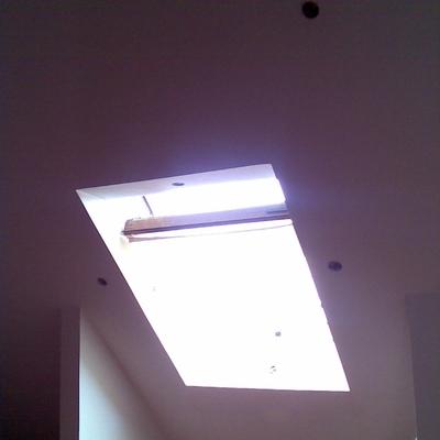 Aislamiento del techo de buhardilla.
