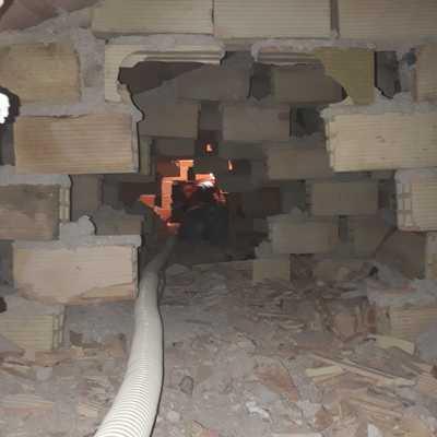 Aislamiento insuflado en tabiques exteriores y techo