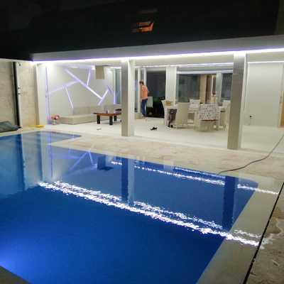 Alumbrado piscina y terrasa