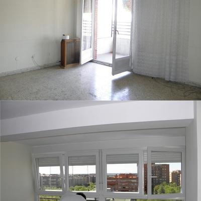Reforma salón. Antes y después.