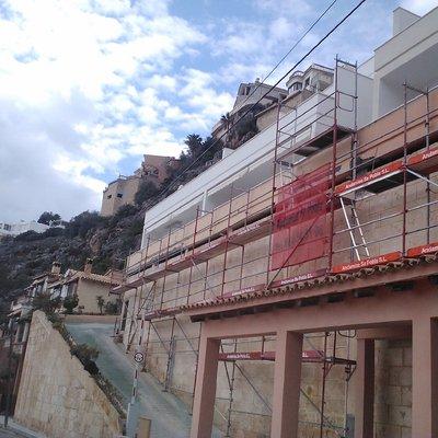 Reforma de la fachada de marés, en Mallorca