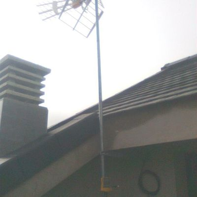 instalacion de antena en vivienda unifamiliar