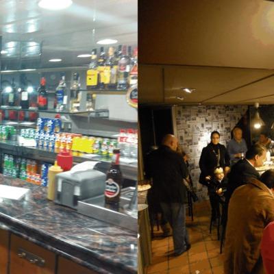 Antes y después de la reforma de un bar