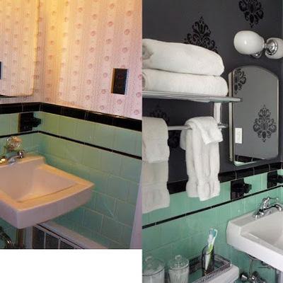 Sin obras: baño en verde y negro