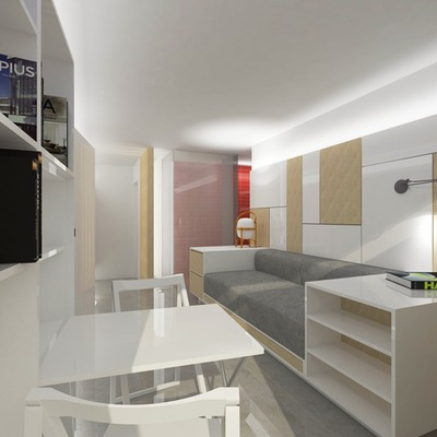 Reforma de un apartamento de 21m². Barcelona.