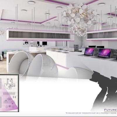 Concurso diseño de farmacia futurista