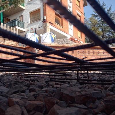 Piscina comunitaria en Moià (aún en obras).