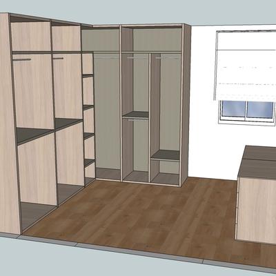 Realización de armario vestidor con puerta