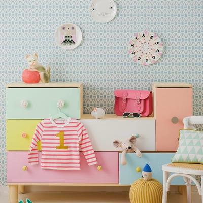 Armario de niños para almacenar de colores