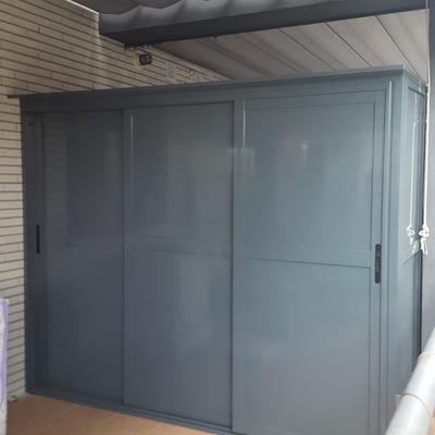 Armario de aluminio exterior