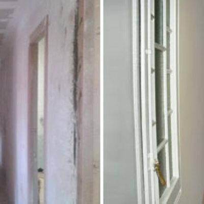 Pintar y reparar pasillo