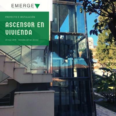Instalación de ascensor en vivienda unifamiliar en Arenales del sol (Elche)