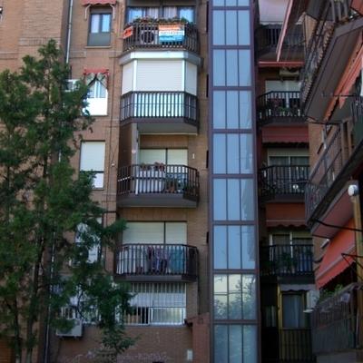 ascensor por fachada