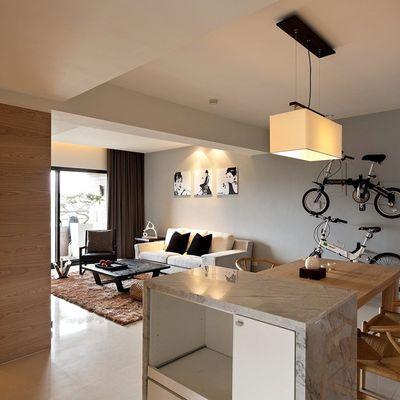Un piso bello y funcional en tonos ocre