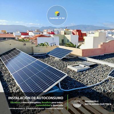 Instalación Autoconsumo Fotovoltaico en Arigana - Gran Canaria