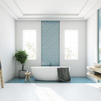 8 maneras de dar color a tu baño