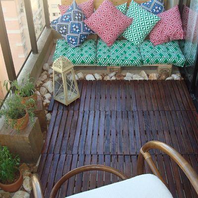 8 ideas low cost para un balcón boho