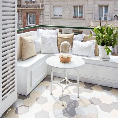 Balcón suelo baldosa hidraúlica