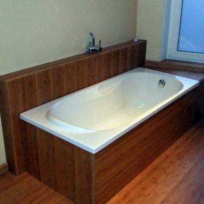 Reforma baño con bambú