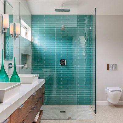 Baño azulejos verdes