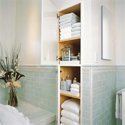 Muebles auxiliares para el baño que te salvarán de la falta de espacio