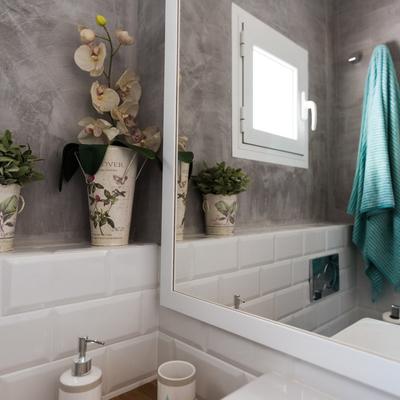 Un baño diferente, delicado y fresco