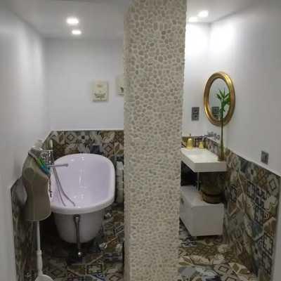Reforma baño loft estilo rococo José.