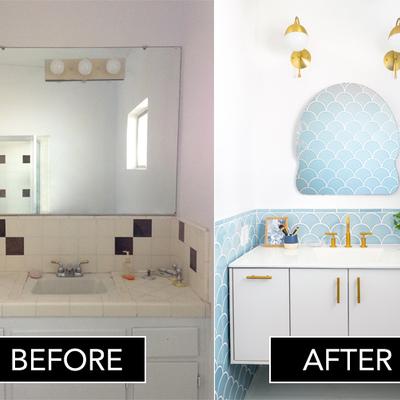 El antes y después de 6 baños reformados casi sin obras (IV)
