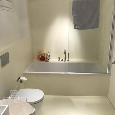 Baño acabado (Microcemento)