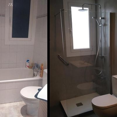Revestimiento con Microcemento en un baño en Jaén