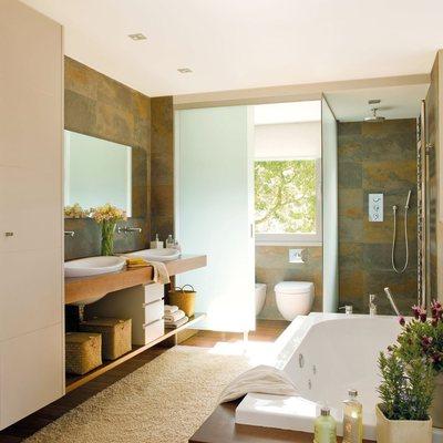 Ideas y fotos de dos lavabos blancos para inspirarte - Banos con dos lavabos ...