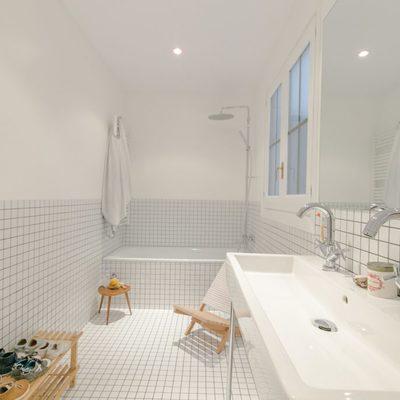 Baño con forma rectangular