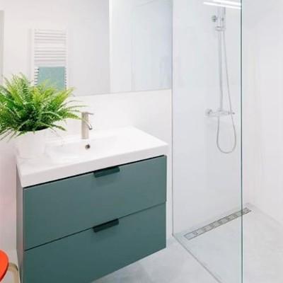 baño (ducha integrada de microcemento)