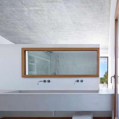 baño en suite de microcemento