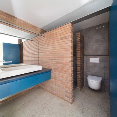 baño estilo vestuario