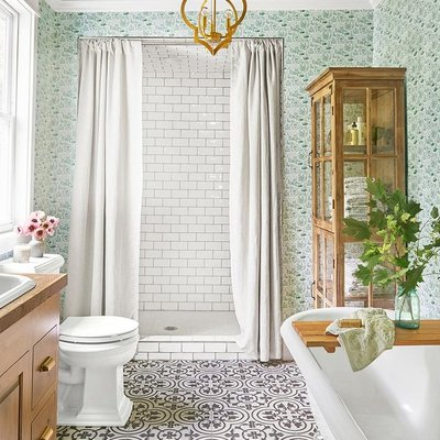 Baño estilo vintage