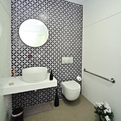 Decoración minimalista de baño