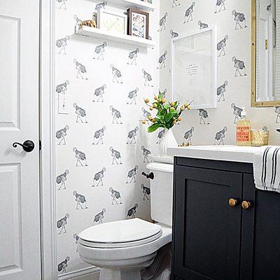 baño papel pintado