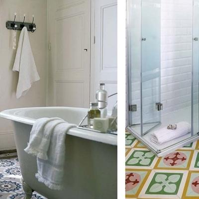 Baño romántico materiales
