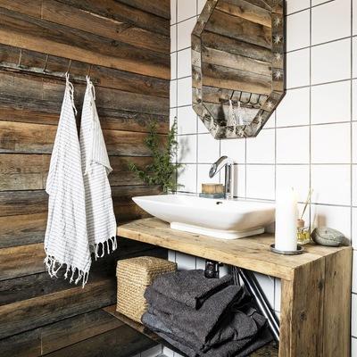 baño rústico pequeño