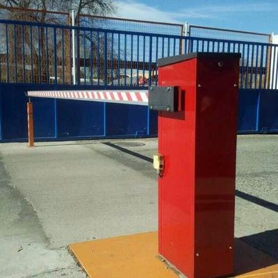 Instalación de barrera de control y punto de seguridad