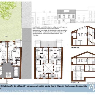 Anteproyecto de edificio de dos viviendas en Santa Clara